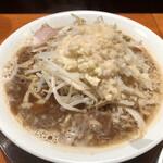 麺者我楽 - ガツンしょうゆ野菜少 ニンニク、アブラ増 700円