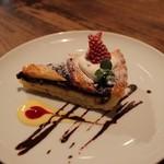 カフェ サルーテ - ラズベリーとブルーベリーのクロスタータ