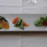 デ アドミラル - 地元産春野菜とニジマスのマリネ