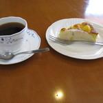 茶の子 - 甘夏ケーキ(350円)とコーヒーと・・・・
