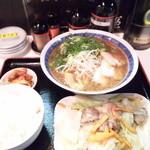 ラーメン麺座 - たんもと定食