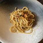 124346111 - 根室の生雲丹とセミドライトマトのスパゲティ