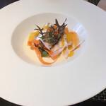 hache - 平目のヴァプールと季節の野菜 ソースヴァンブラン