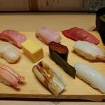 魚寅鮨 - 上にぎり