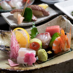 季節料理 かわの - 料理写真:日向路コース紹介 宮崎獲れの旬魚のお造り