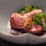 Restaurant MAEKAWA - 京都七谷鴨ロースト その肝のソース