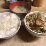 多津田食堂 - 『豚みそ煮込み定食』様(500円)※ご飯少なめ。