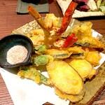 Nurukansatou - 海老と季節野菜の天麩羅