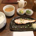 中新ロマンス食堂 - お魚のランチ(スズキの塩麹漬け焼き)