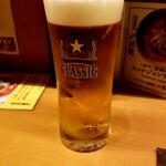 麺と酒 からなり - ビール 400円