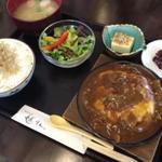 京乃ちりめん山椒 毬りん - 鉄板牛カレーチーズつくね定食
