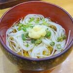 宝寿司 - 会計後のシメの素麺