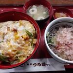 越前 つるきそば - 上カツ丼ランチ(そば大盛)¥980+¥180