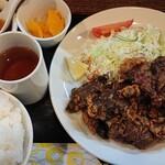 kei楽 - 料理写真:エゾシカレバー唐揚げ定食¥1,260