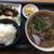 松 - 料理写真:こぶそばの大盛りと定食
