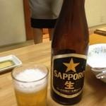 かに亭 - ドリンク写真:ビールはやっぱりサッポロで。