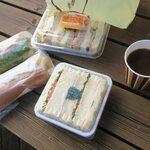 124393269 - 総菜パンとサンドイッチです