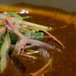 銀座 佐藤養助 - 肉味噌アップ
