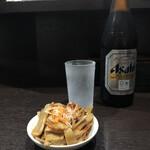中華そば べんてん - 「ビール中(お通し付き)」650円