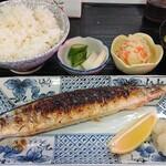 ささ乃木 - 【秋刀魚塩焼定食】税込¥750