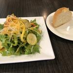 和イタリアン matsu - ランチサラダとパン