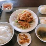 龍鳳園 - 油淋鶏ランチ定食