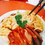 東光飯店 - 3色冷菜8人でわけても十分ありました。