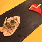 トラットリア・コッレ - 鶏胸肉のハム/赤カブのマリネ