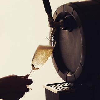 樽生スパークリングワインをはじめ、豊富なドリンクメニュー