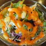 インド料理 プルニマ - プルニマスペシャルセットのサラダ(ランチ)