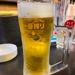 楽笑 - ドリンク写真:生ビール