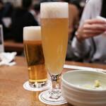 山本屋本店 - サッポロ 白穂乃香 と エビス生