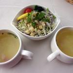 ベンガル - スープとサラダ