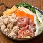 上野 肉処 肉の権之助 - 濃厚コラーゲン!大山鶏つくね白湯鍋