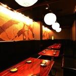 上野 肉処 肉の権之助 - 店内は落ち着いた雰囲気の個室完備!2~30名様まで◎