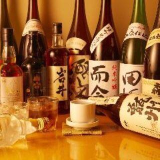 定番から限定酒まで、いいものだけ。厳選酒は約80種類