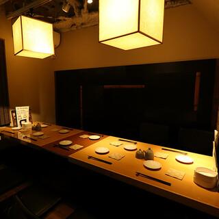 ◆半個室あり◆賑やか飲み&しっぽり飲みも出来る和モダン空間