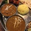 印度料理 BHINDI - 料理写真:奥ダル、手前キーマ