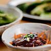 とんかつ 光 - 料理写真:あて3点セット(焼枝豆・ホタルイカ・たたきキューリ)