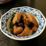 unagiakagaki - 鰻肝のお浸しみたいな・・