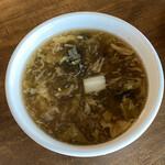 中華バルSAISAI。 - スープ本日は黒酢のスープ。
