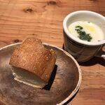124493522 - フォッカチオとスープ