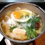 ときわ寿司 - お昼の鍋定食の寄せ鍋の小鍋
