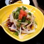 ときわ寿司 - お昼の鍋定食のカツオのたたき