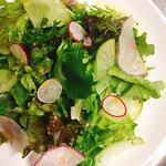 Caffè ソライ屋 - 【パーティーコース/プレミアム】メニュー例:2皿目ーグリーンサラダ