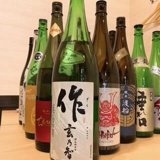 唎酒師厳選の豊富な地酒メニュー