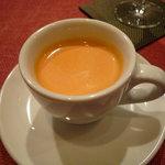 鉄板焼 AC 広尾 - ニンジンのスープ