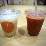 りんごの下 - ◆「洋梨ジュース(M:495円)」と「いちごジュース(M:770円)」を頂きました。