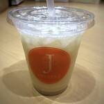 りんごの下 - ◆洋梨ジュース(M:495円)・・すっきりした味わいで、喉が渇いているときに丁度いいとのこと。