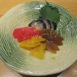 124503119 - 漬物:茄子、赤かぶ、沢庵、瓜の粕漬け。     2020.01.29